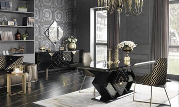 Versage Black Luxury Yemek Odası Takımı