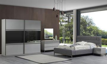 Salda Akordion Dolaplı Modern Yatak Odası Takımı
