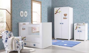 Teddy Mavi Bebek Odası Takımı