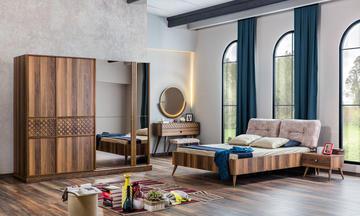 İmaj Ceviz Modern Yatak Odası Takımı