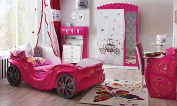 Prenses Arabalı Çocuk Odası Takımı