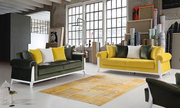 Londra Sarı/Yeşil Modern Koltuk Takımı