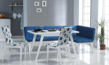 Amsterdam Mavi Mutfak Masası Takımı