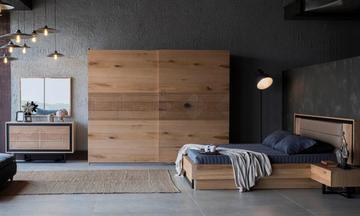 Loft Meşe Modern Yatak Odası Takımı