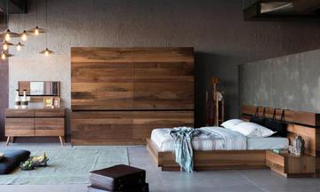 Lotus Ceviz Modern Yatak Odası Takımı