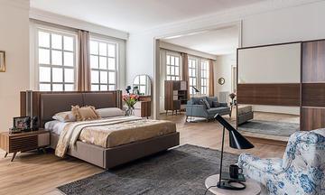 Cumba Ceviz Modern Yatak Odası Takımı