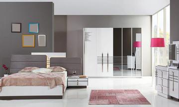 Lobbo Beyaz Modern Yatak Odası Takımı