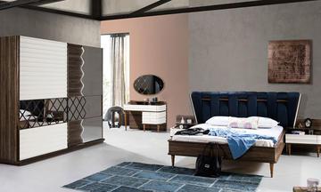 Capilon Ekru Modern Yatak Odası Takımı