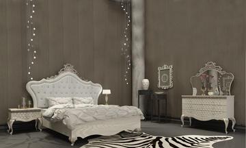 İnci Eskitme Avangarde Yatak Odası Takımı