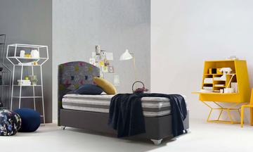 Kübik Genç Baza Yatak Başlık Seti