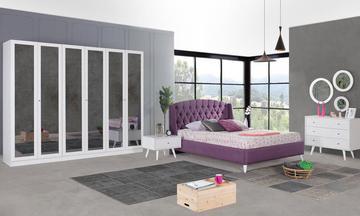 Angora Beyaz Modern Yatak Odası Takımı