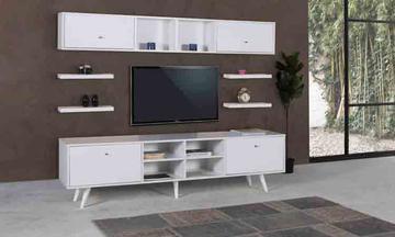 Angora Beyaz Modern Tv Ünitesi