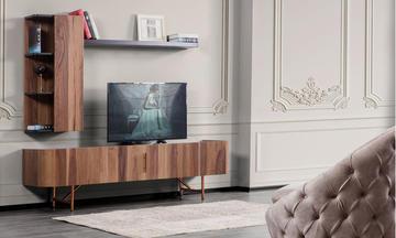 Lima Ceviz Modern Tv Ünitesi