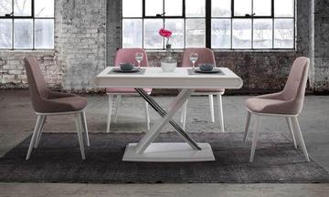 Prada Beyaz Mutfak Masası Takımı