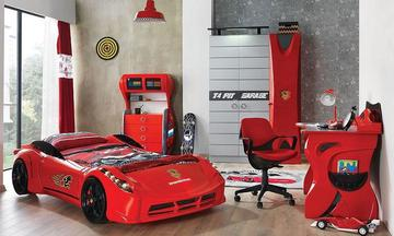 Titi Garage Red Çocuk Odası