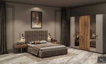 Perla Ceviz Yatak Odası Takımı