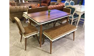 Osmanlı Ahşap Bank Takımı Mutfak Masası