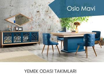 Oslo Mavi Yemek Odası Takımı