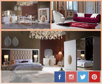 Constantin yemek odası, yatak odası ve koltuk takımı