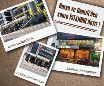 İstanbul'da hizmetinizdeyiz
