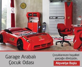 Garage Arabalı Çocuk Odası Takımı