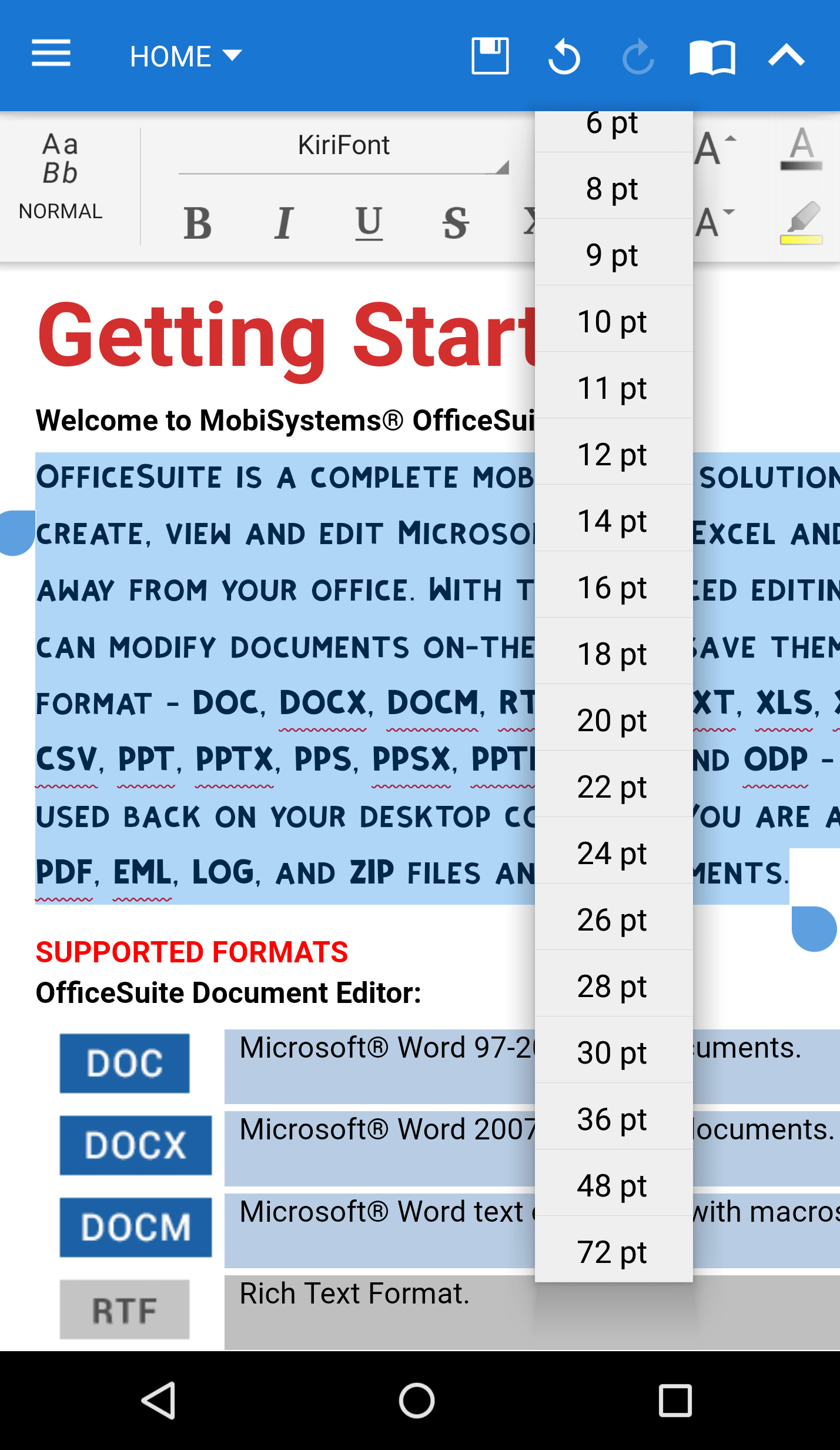OfficeSuite Microsoft Compatibility Font Pack