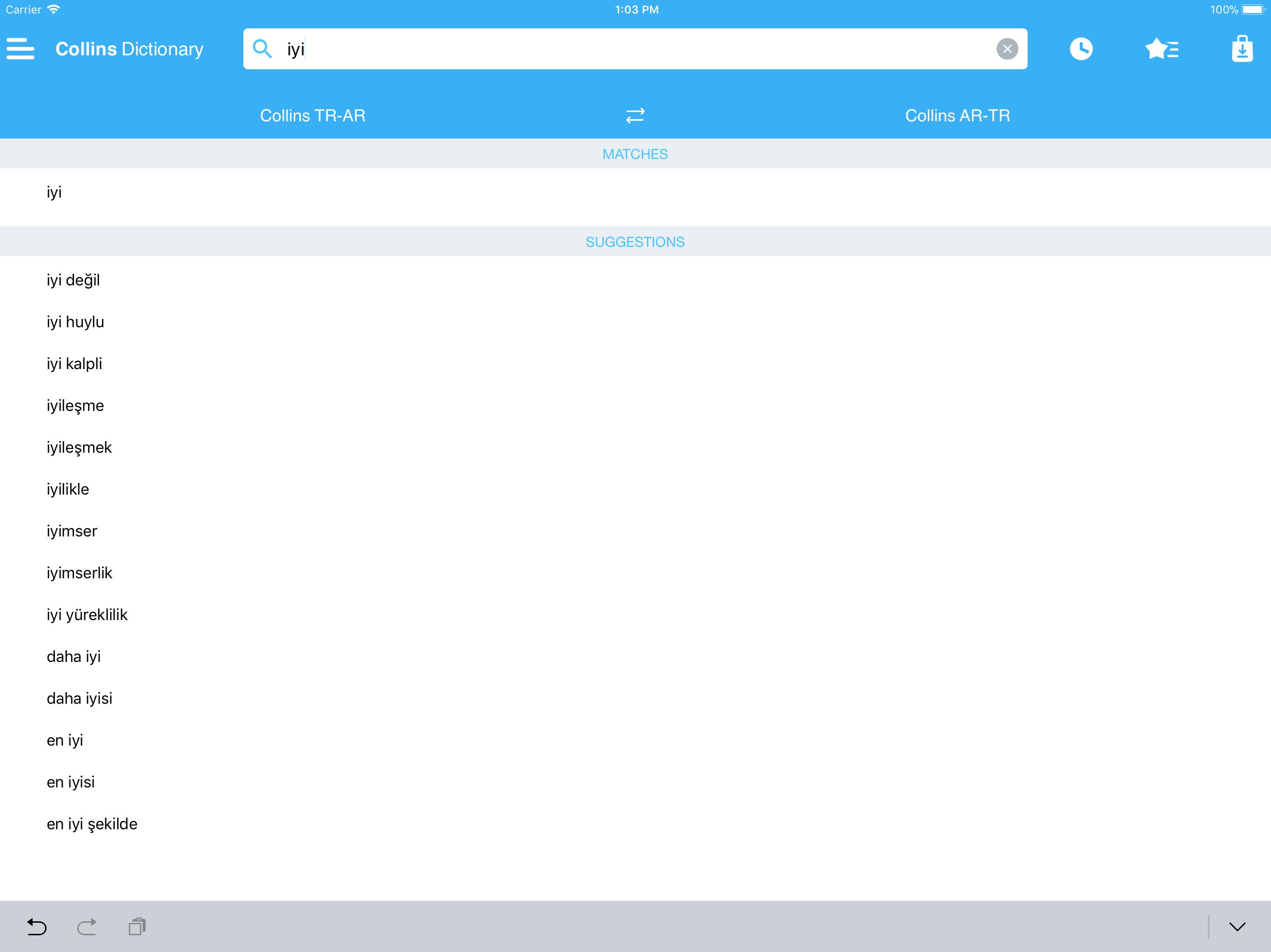 Audio collins mini gem arabic turkish turkish arabic dictionary app screenshot fandeluxe Image collections