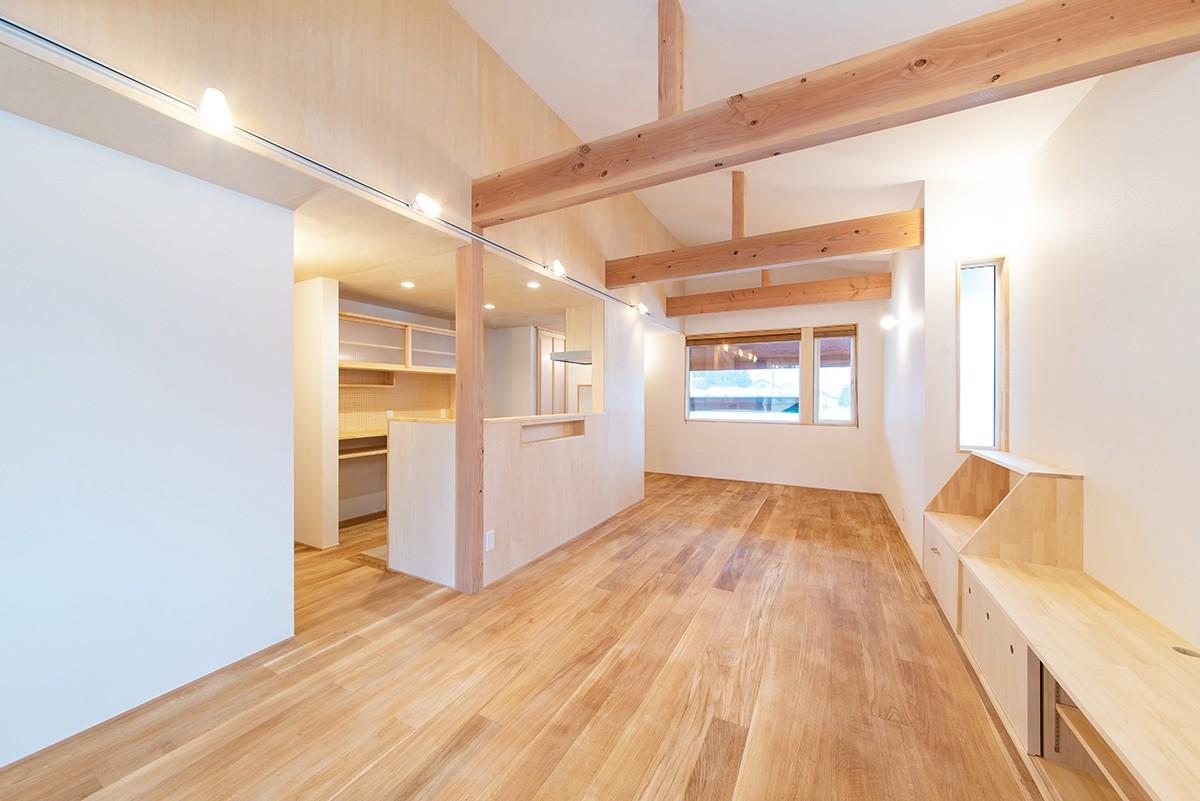 株式会社Ag-工務店「1階だけで暮らしが完結する、多雪地域に建つ28坪の住まい」の実例写真