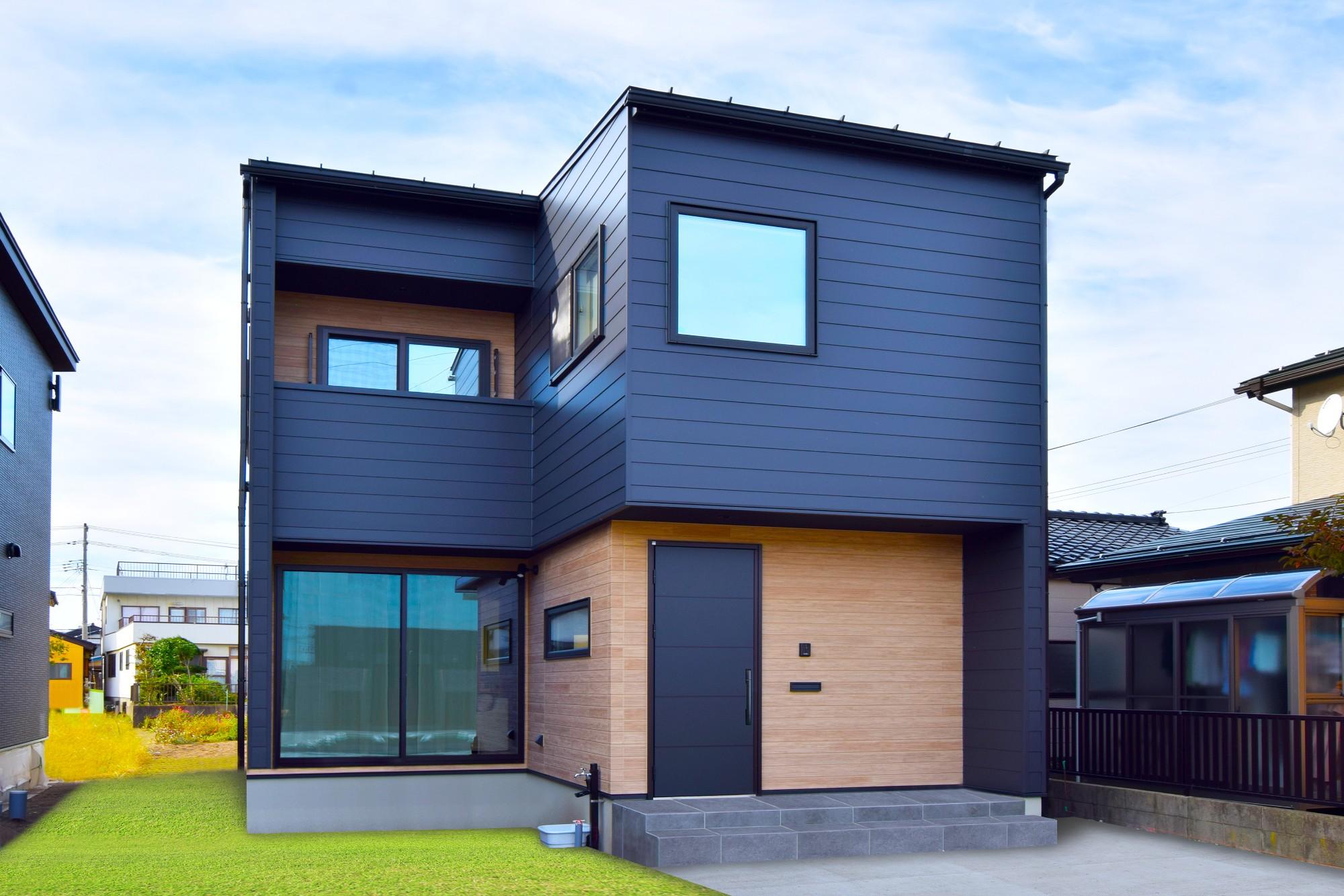 DETAIL HOME(ディテールホーム)「オークを基調としたナチュラルモダンな家」のシンプル・ナチュラルな外観の実例写真