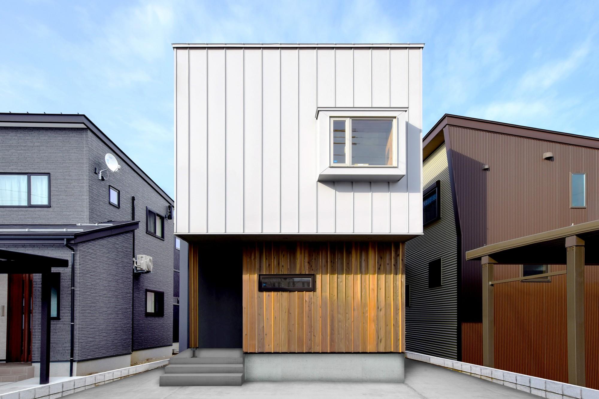 DETAIL HOME(ディテールホーム)「素材を楽しむ小さな家」のシンプル・ナチュラルな外観の実例写真