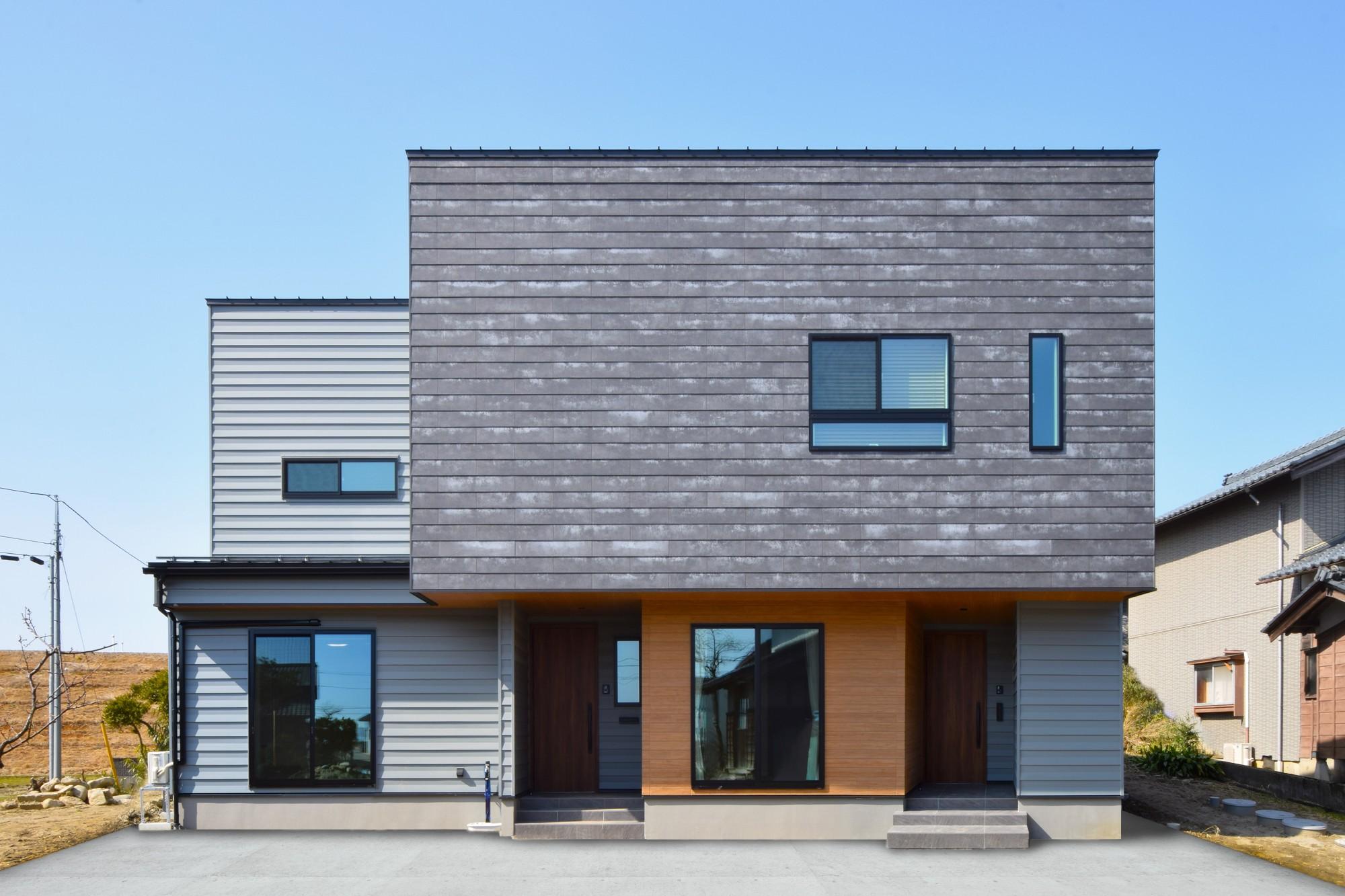 DETAIL HOME(ディテールホーム)「素材でつながる2世帯住宅」のシンプル・ナチュラルな外観の実例写真