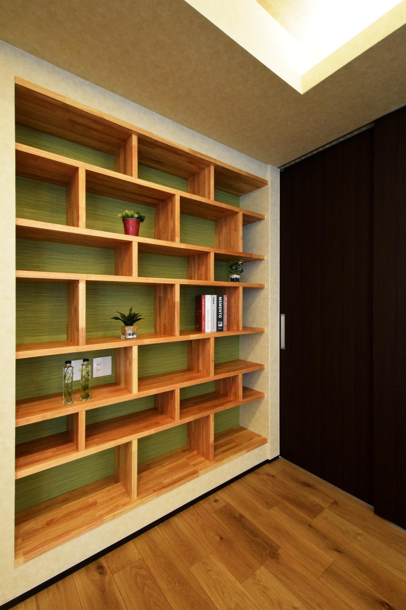 DETAIL HOME(ディテールホーム)「二世帯で住まう和モダン平屋住宅」のモダン・和風・和モダンな収納スペースの実例写真