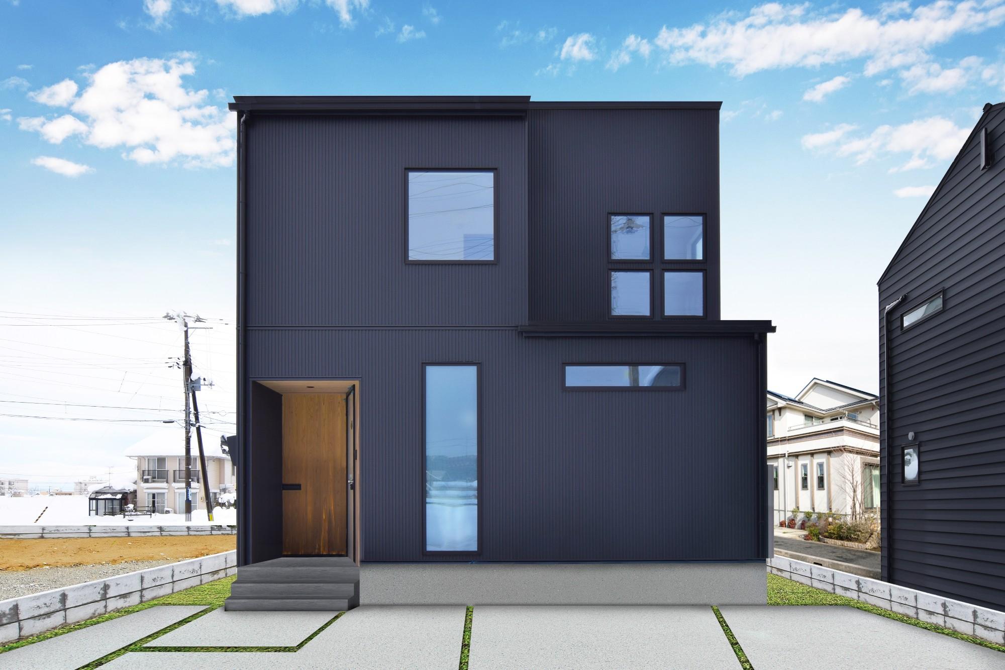 DETAIL HOME(ディテールホーム)「光が降りそそぐ開放感のある家」のシンプル・ナチュラルな外観の実例写真