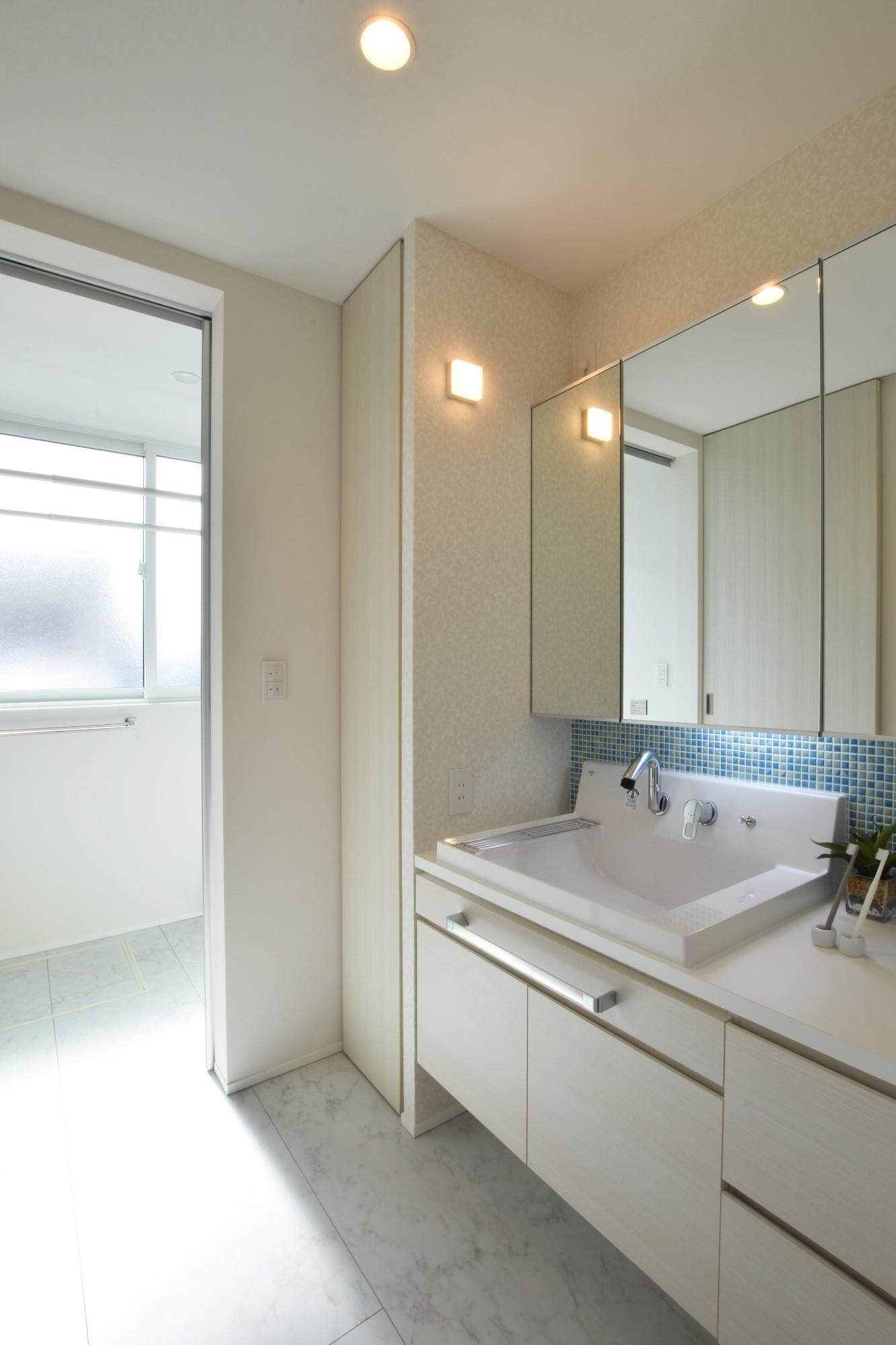 DETAIL HOME(ディテールホーム)「ナチュラルに、カジュアルに、カジラクに」のシンプル・ナチュラルな洗面所・脱衣所の実例写真