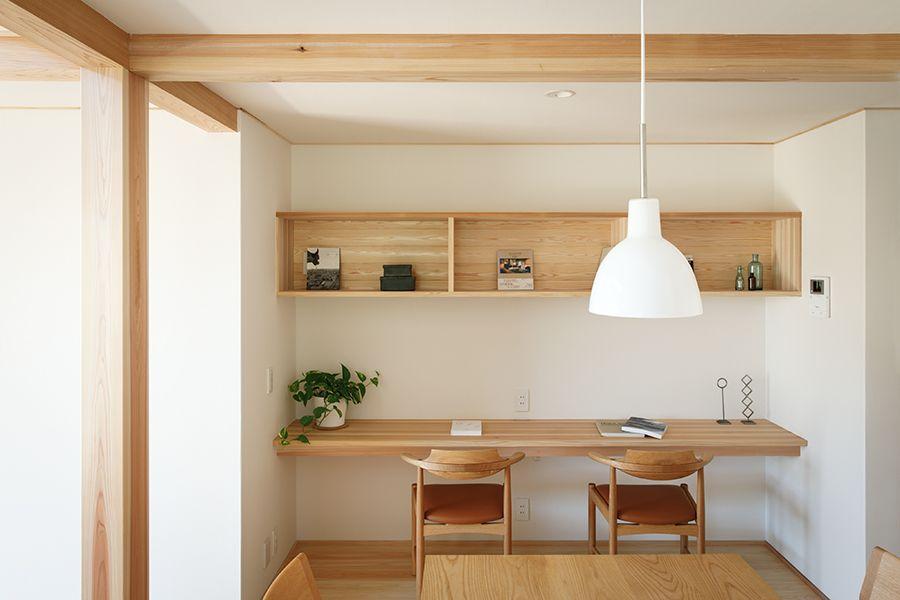 株式会社ナレッジライフ「自分たちらしく変えていく シンプルな木の家」の実例写真