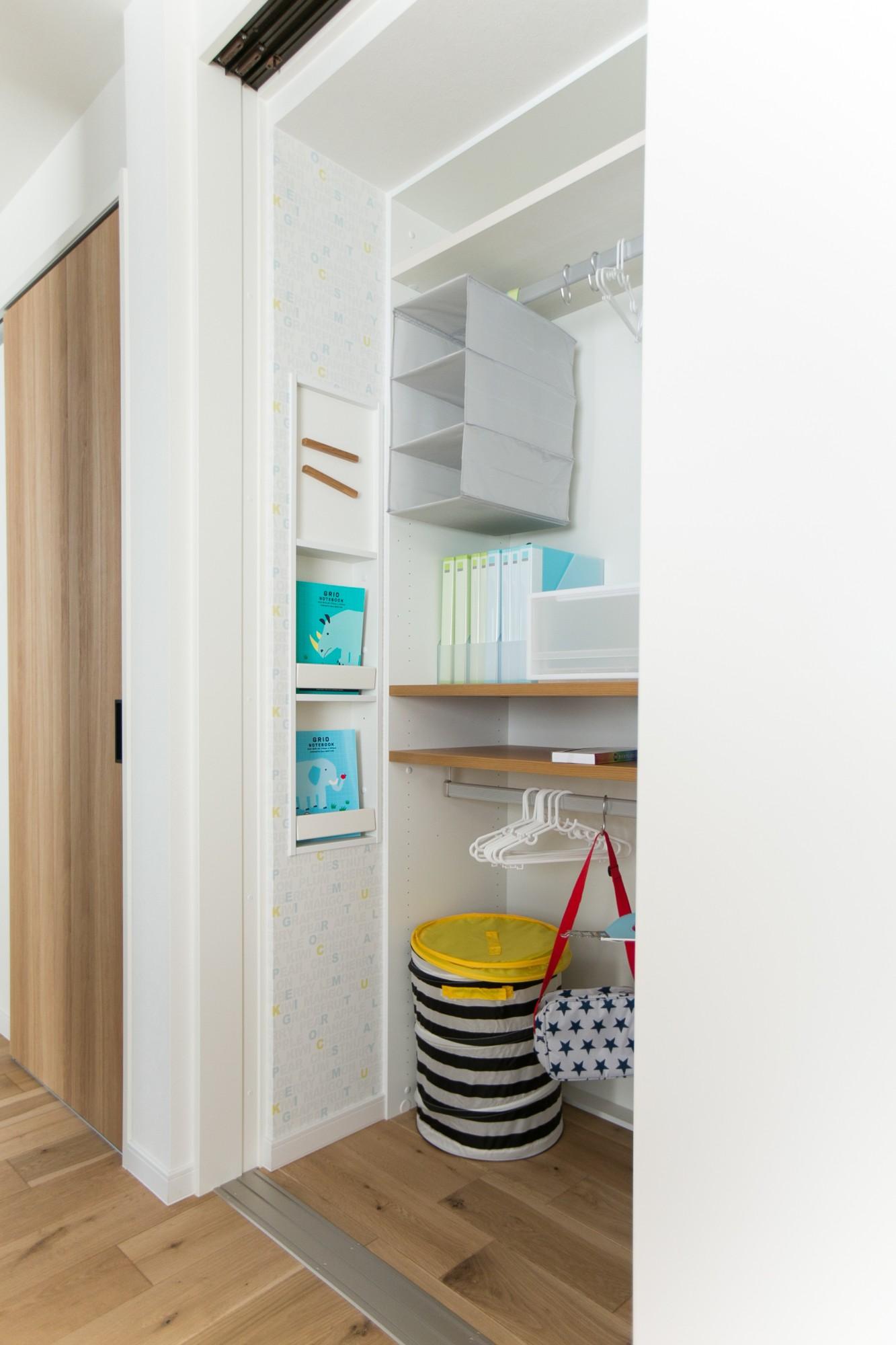 HASHIKEN「こどものための動線の家」のシンプル・ナチュラルな収納スペースの実例写真