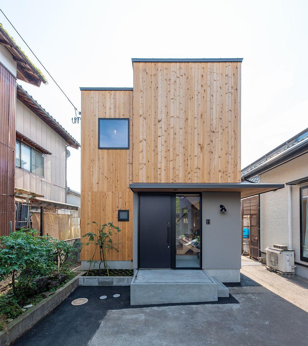 株式会社あかがわ建築設計室「離れの家」のシンプル・ナチュラル・モダンな外観の実例写真