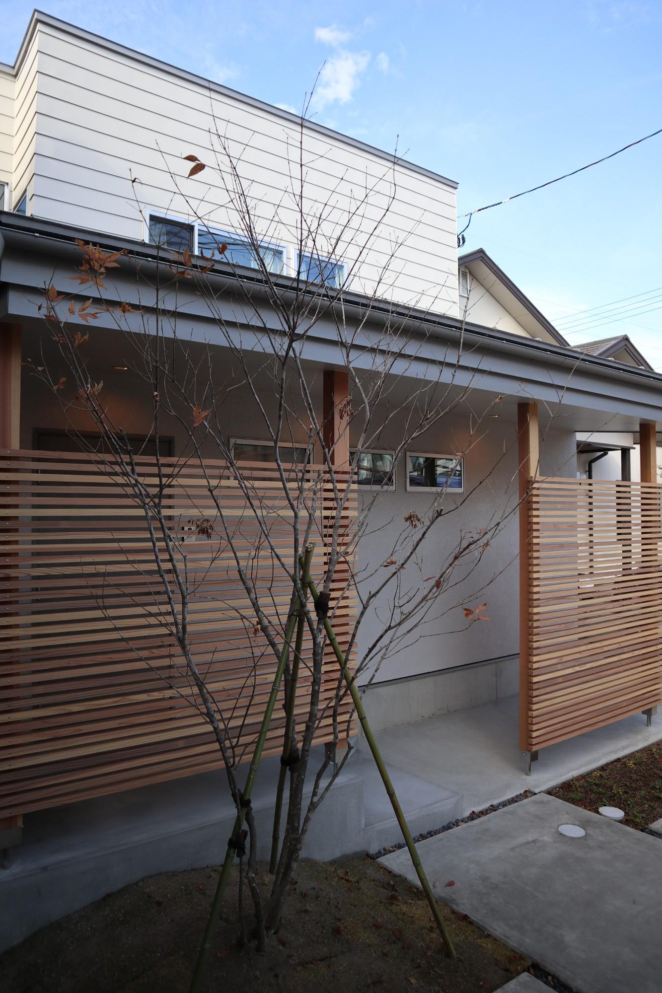 株式会社あかがわ建築設計室「斜光の家」のシンプル・ナチュラル・モダン・北欧風な外観の実例写真