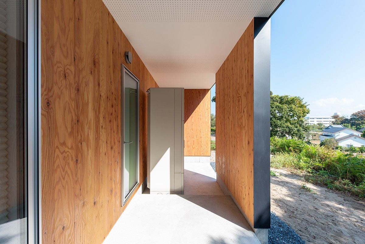 株式会社あかがわ建築設計室「雄景の家」のシンプル・ナチュラル・モダンな外観の実例写真
