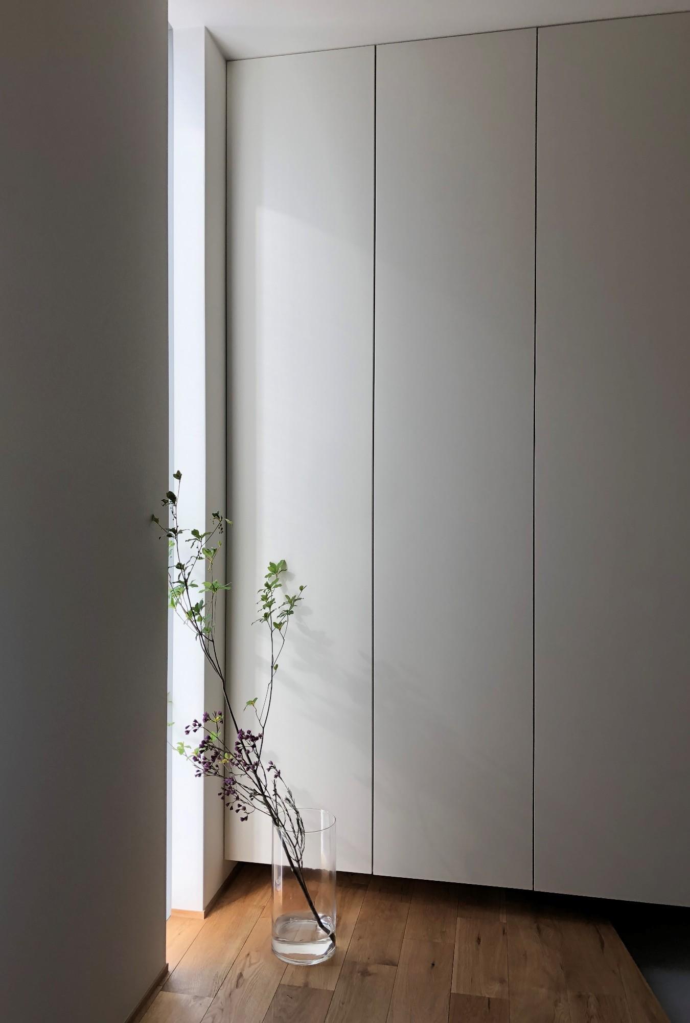 株式会社あかがわ建築設計室「雄景の家」のシンプル・ナチュラル・モダンな玄関の実例写真