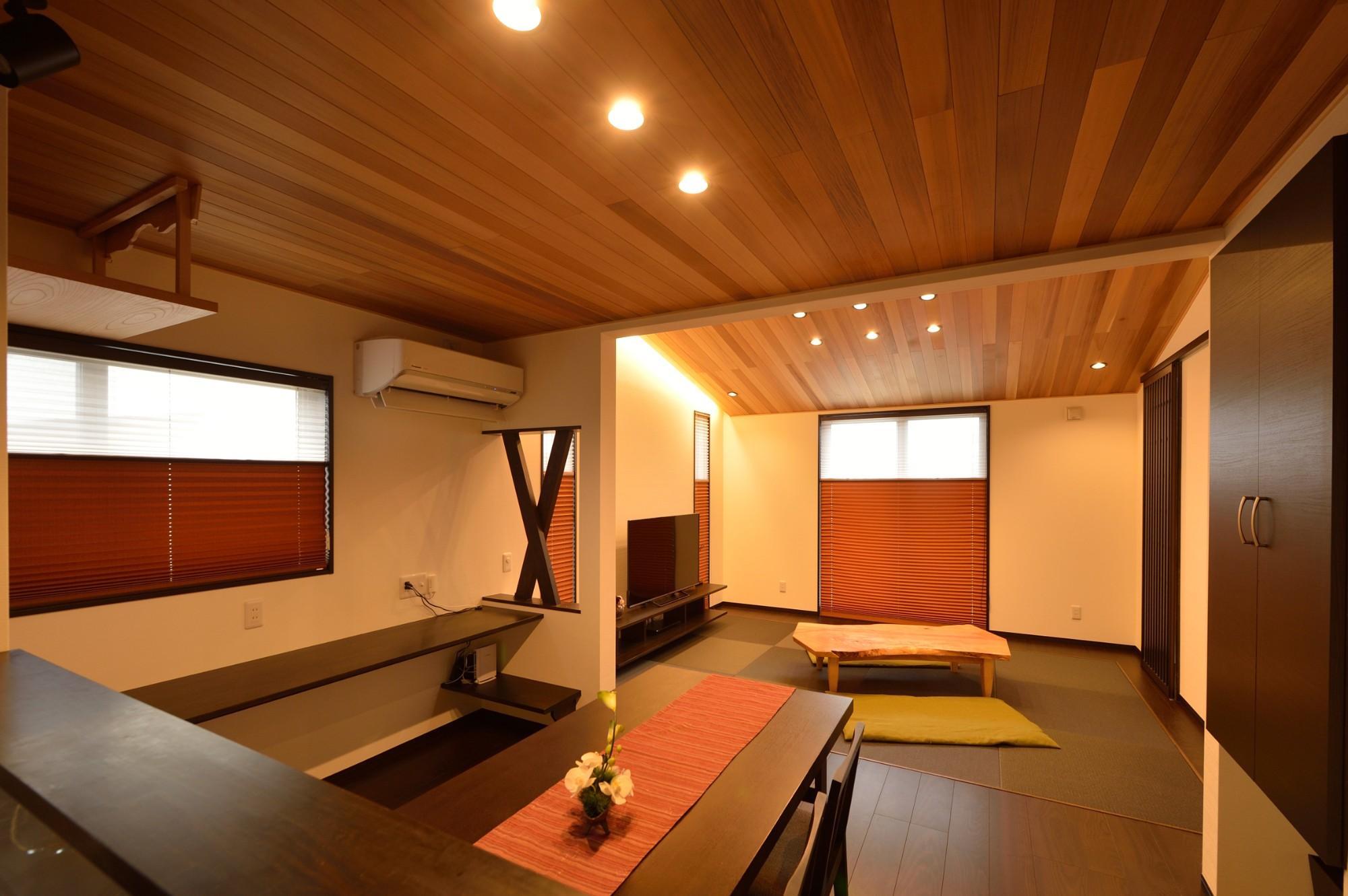 家'Sハセガワ株式会社「粋 ~SUI~」のモダンなリビング・ダイニングの実例写真