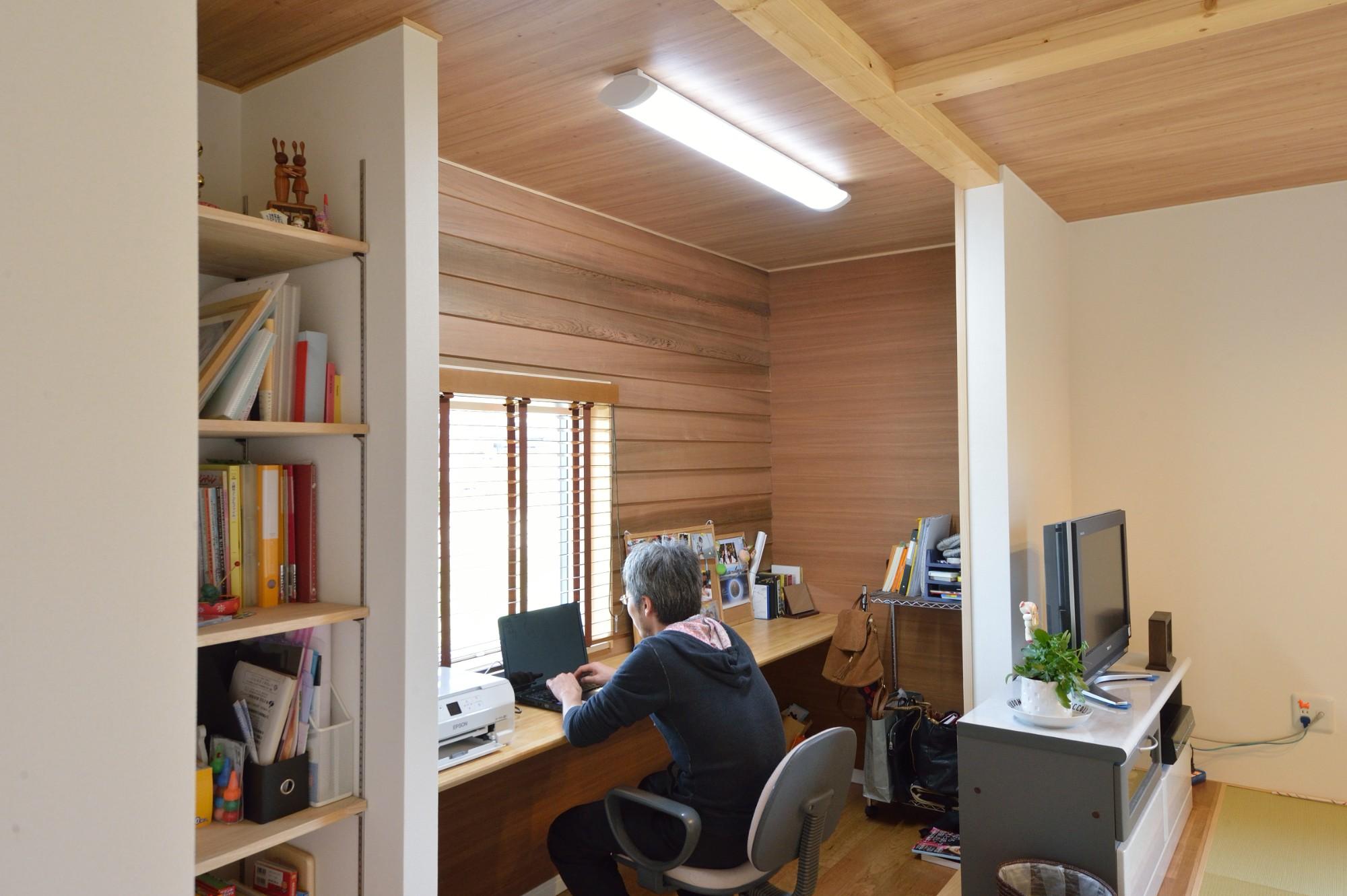 家'Sハセガワ株式会社「空間を満たす家 ~光と家~」のシンプル・ナチュラルな居室の実例写真