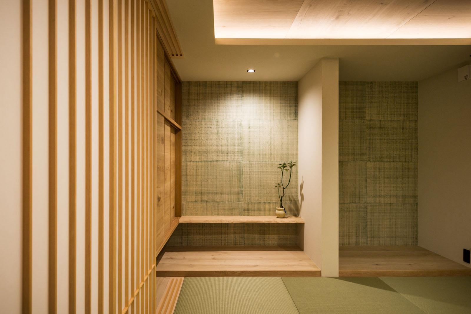 Ploot Architects & Associates「HOUSE_S」の和風・和モダンな居室の実例写真