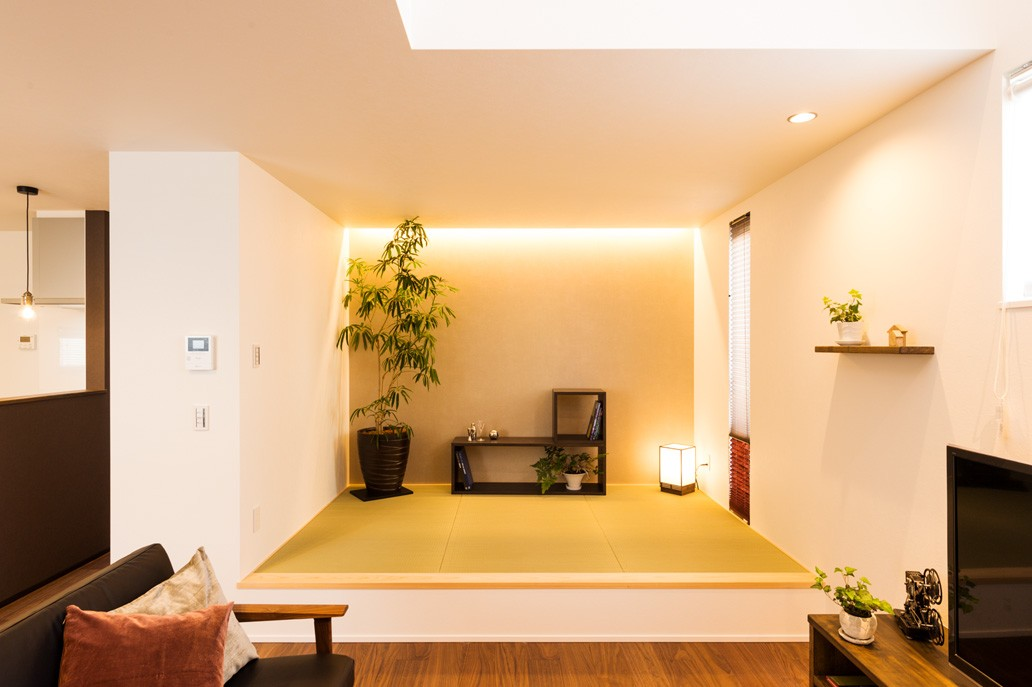 フクダハウジング株式会社「グレーを基調にしたヴィンテージテイストの家」のモダン・ヴィンテージな居室の実例写真