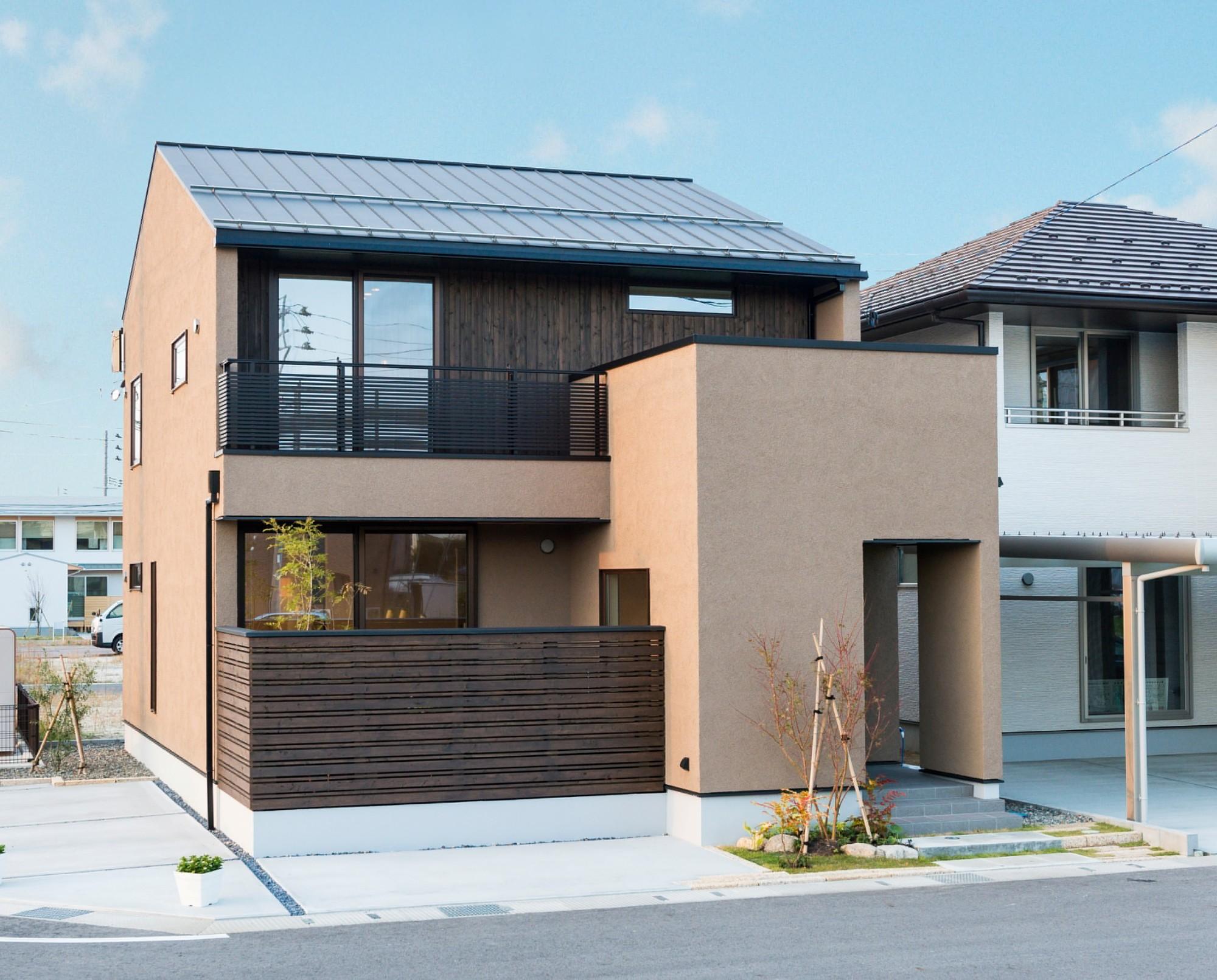 フクダハウジング株式会社「ワンランク上の美しさと機能性の高い家」のシンプル・ナチュラル・モダンな外観の実例写真