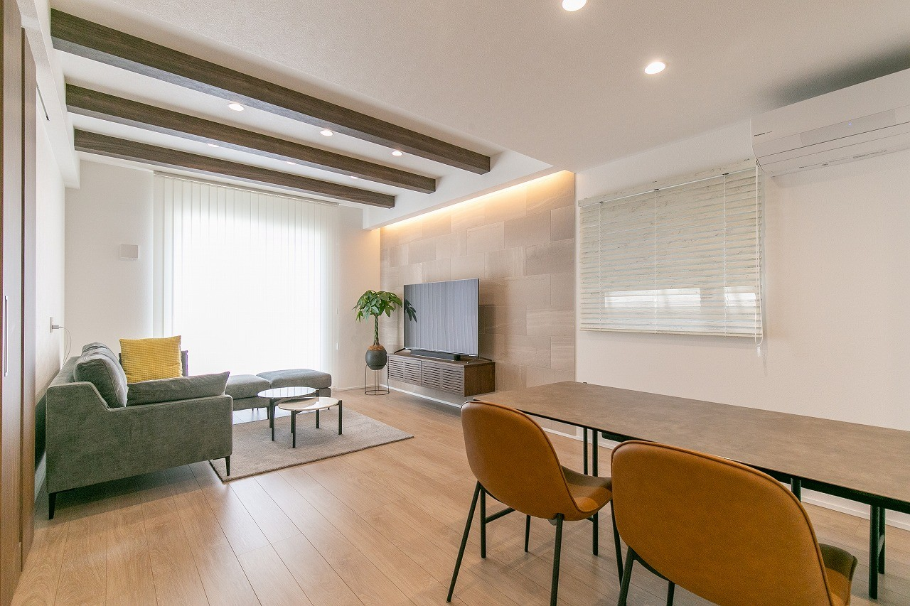 フクダハウジング株式会社「インテリアにこだわったホテルライクな住まい」のモダンなリビング・ダイニングの実例写真