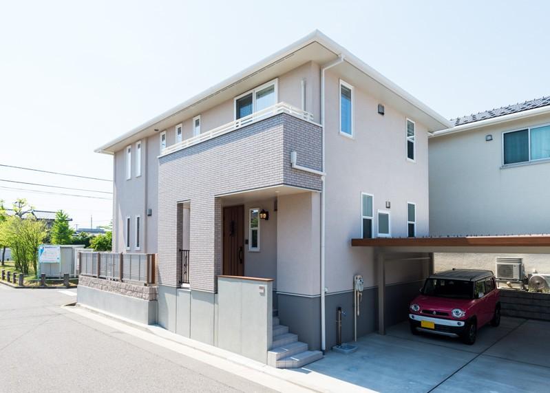 フクダハウジング株式会社「どこに居ても気持ちよくリラックスできる家」のシンプル・ナチュラルな外観の実例写真