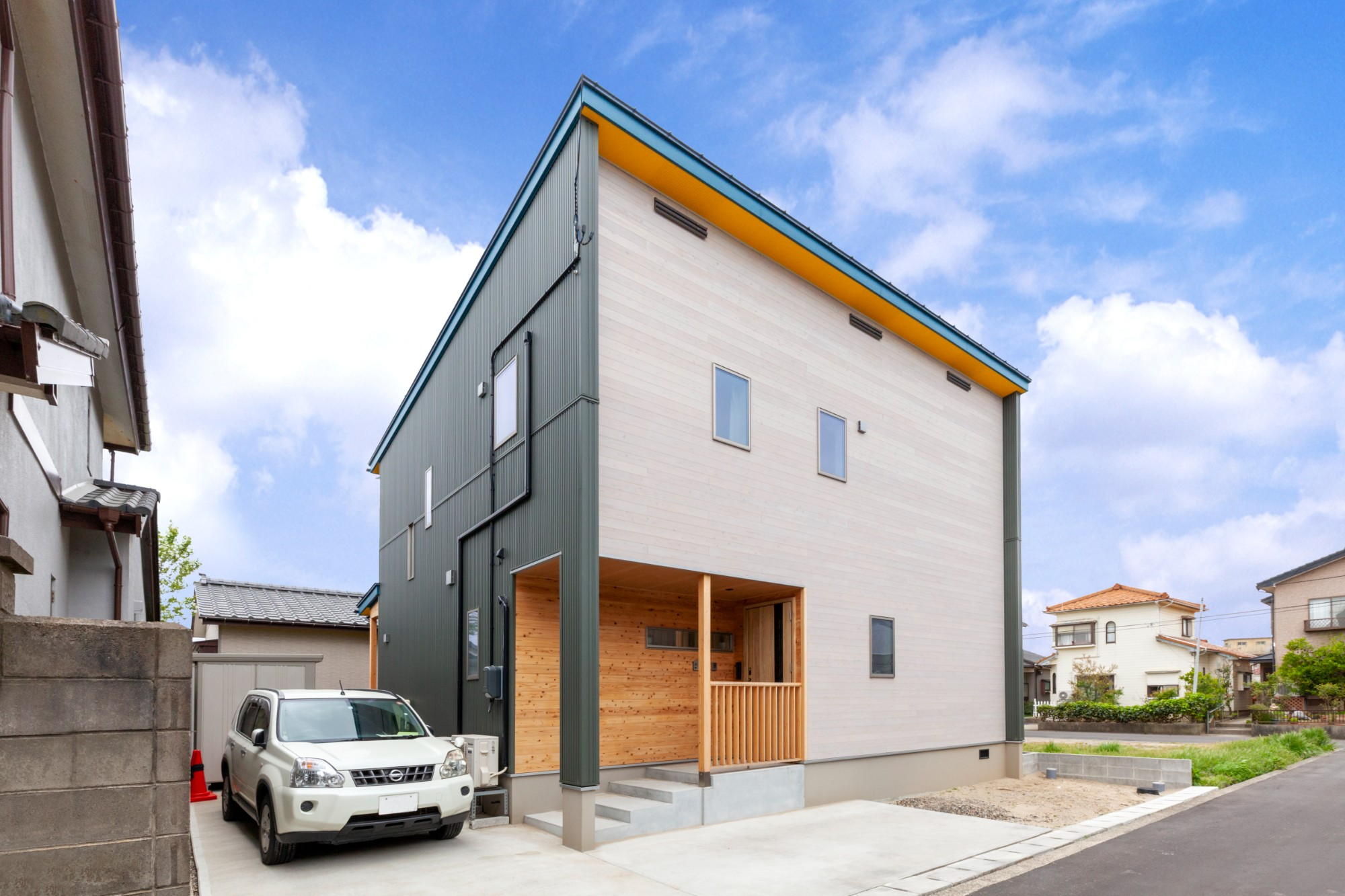 新潟材協 クオリティハウス「自然素材に彩られた、家族と繋がる住まい」の外観の実例写真