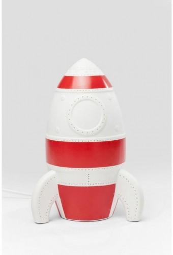 Červeno-biela stolová lampa Kare Design Rocket