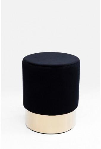 Čierna stolička Kare Design Cherry, ∅35 cm